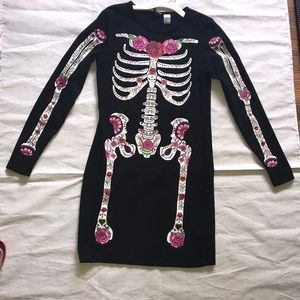 Black skeleton painted dress size 10